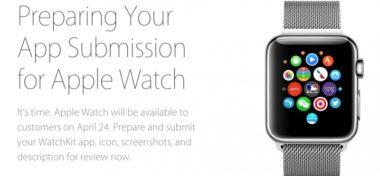 Apple už přijímá aplikace pro Apple Watch
