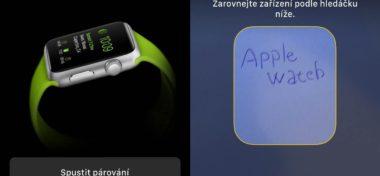 První pohled na aplikaci Apple Watch v iOS 8.2
